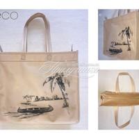 ЭКО СУМКИ - Эко сумка с рисунком, с замком, спанбонд