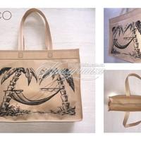 Эко сумки с рисунком - Эко сумка с рисунком, с замком, спанбонд