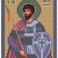 """Схемы для вышивки бисером - Схема для частичной вышивки бисером """"Св.Мч.Виктор Дамасский"""""""