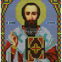 """Схема для частичной вышивки бисером """"Св.Василий Великий"""""""