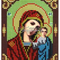 """Схема для частичной вышивки бисером """"Казанская"""""""
