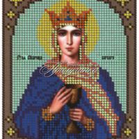"""Схема для частичной вышивки бисером """"Святая Великомученица Варвара"""""""
